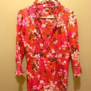 J crew vibrant floral tunic. GUC. Size 6.